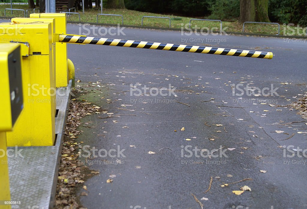 Car park exit royalty-free stock photo