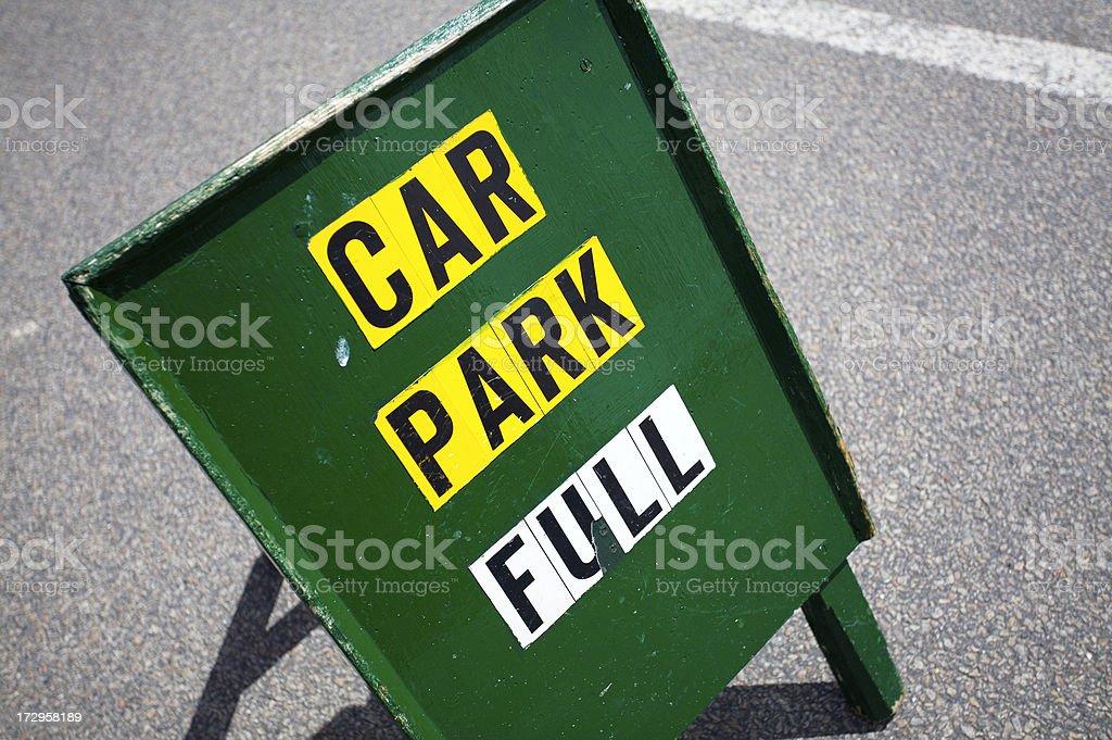 Car park full sign stock photo