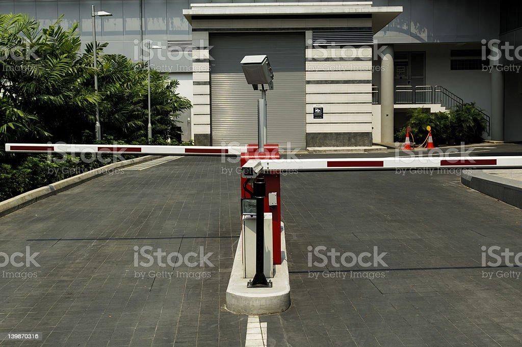 Car Park Gate royalty-free stock photo