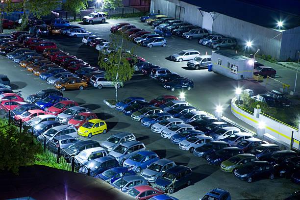 Car park stock photo