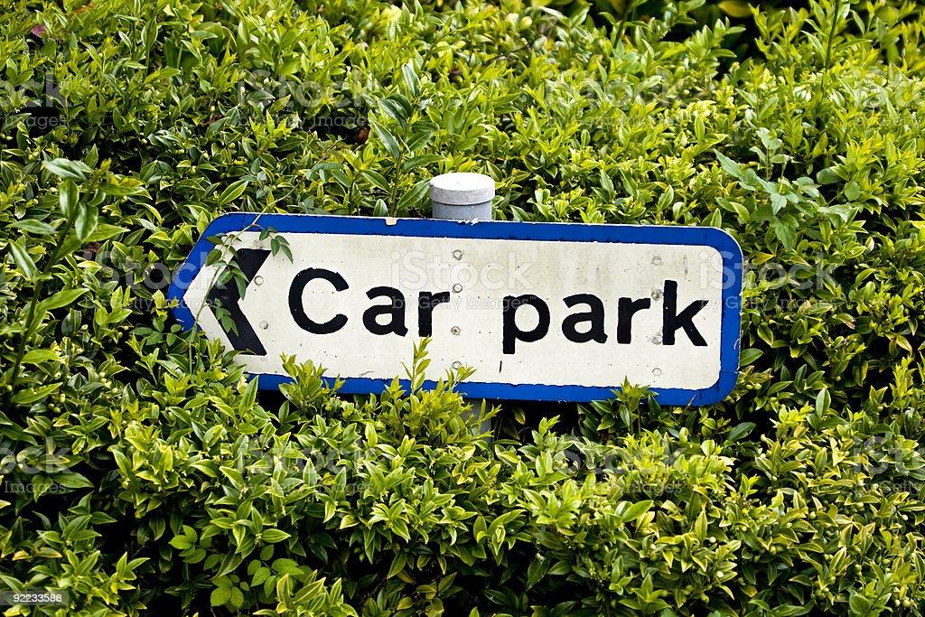 Car park sign royalty-free stock photo