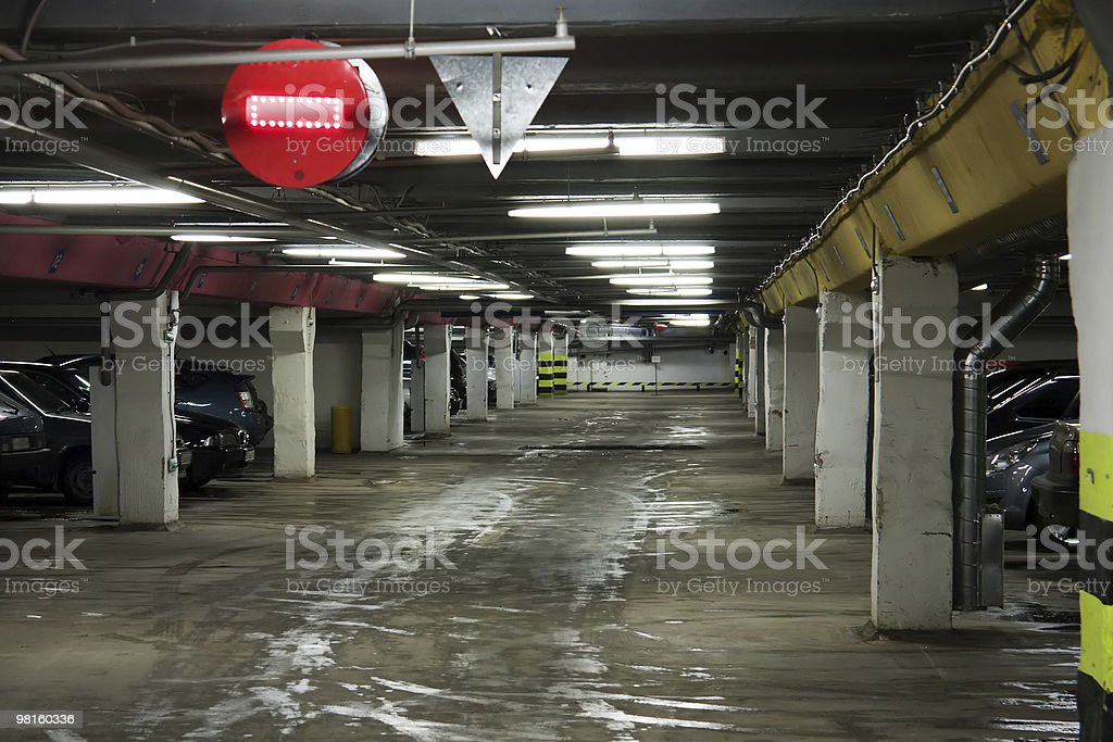 Car parking royalty-free stock photo