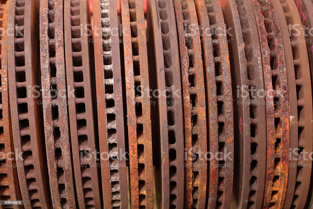 Car Parts Disk Brake Rotors stock photo