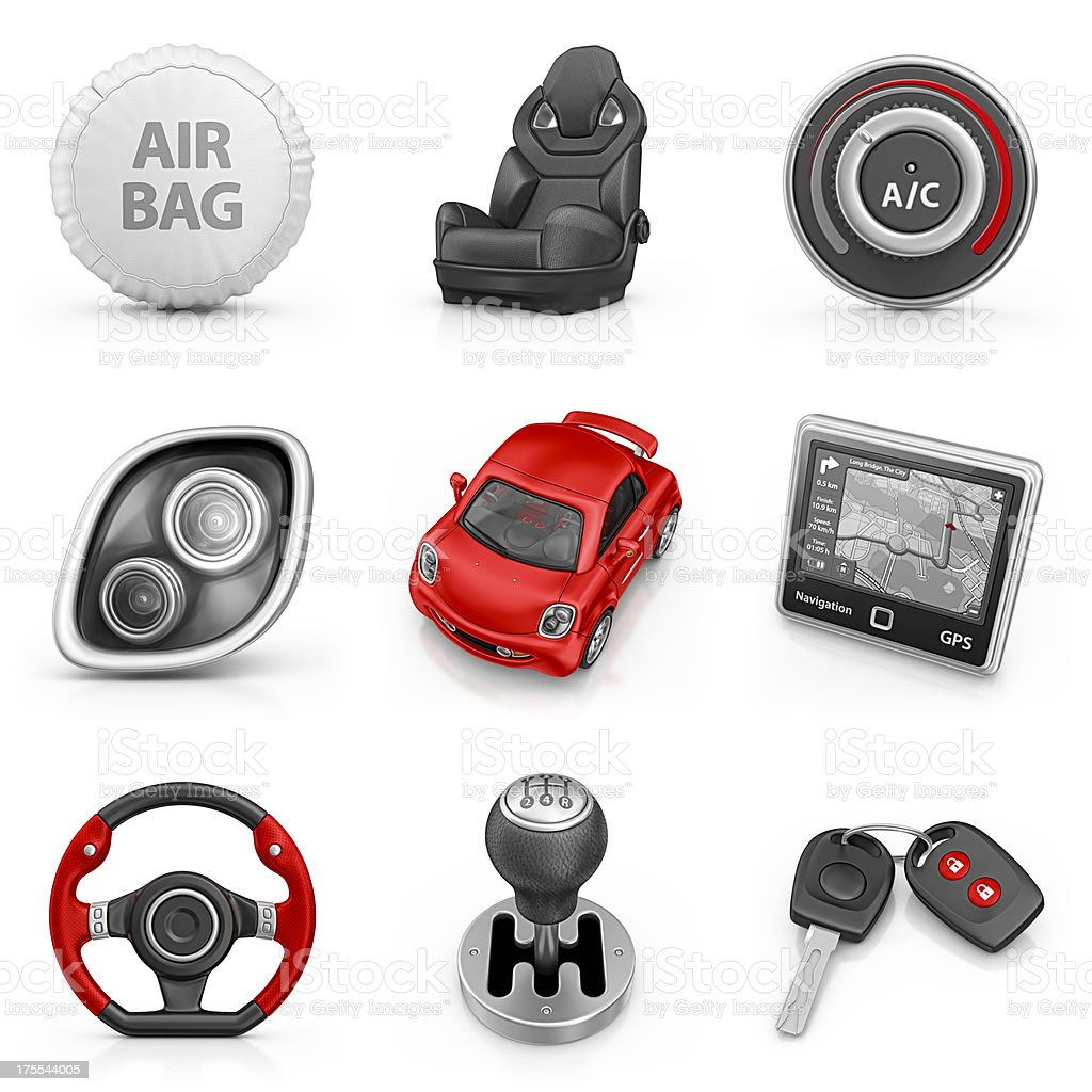 car parts icons stock photo