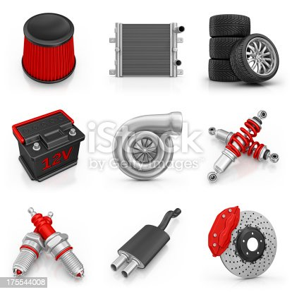 istock car parts icons 175544008