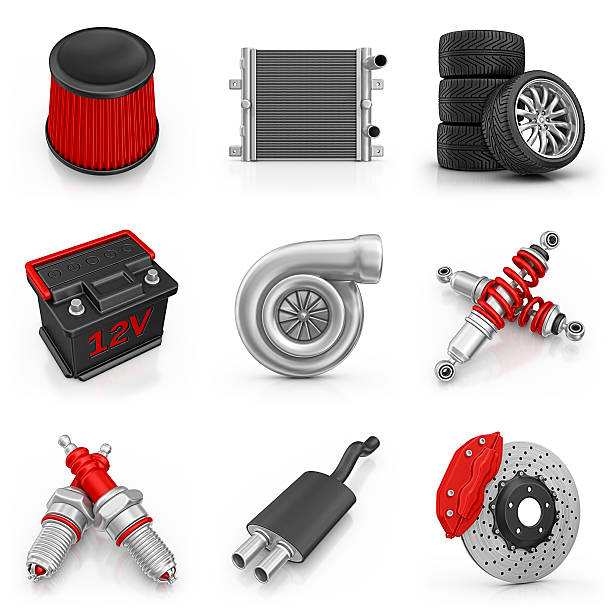 car parts icons  air filter stock pictures, royalty-free photos & images