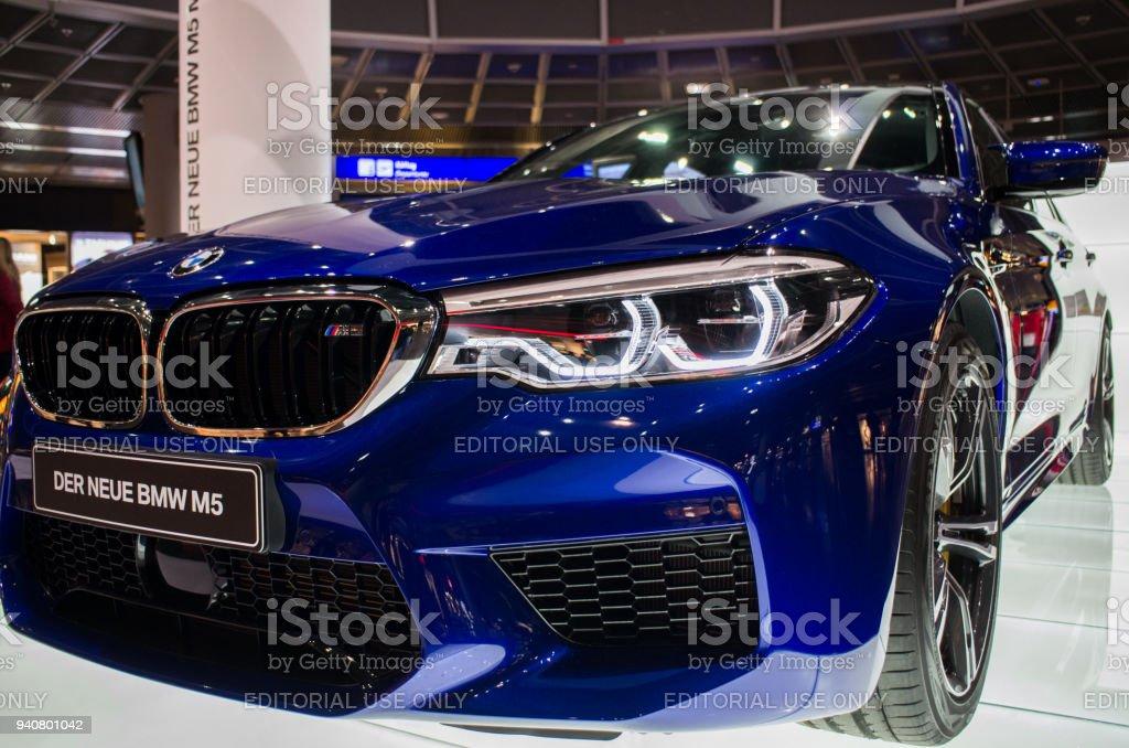 Frankfurt am Main, Germany - February 27 2018 : BMW M5 car for...