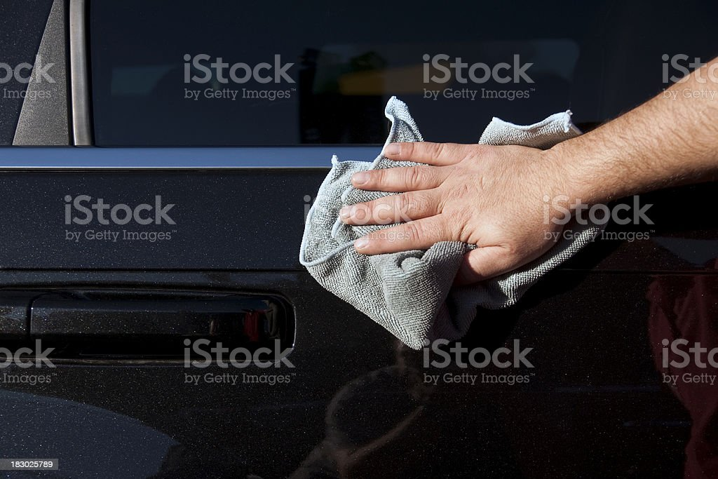 car polishing royalty-free stock photo