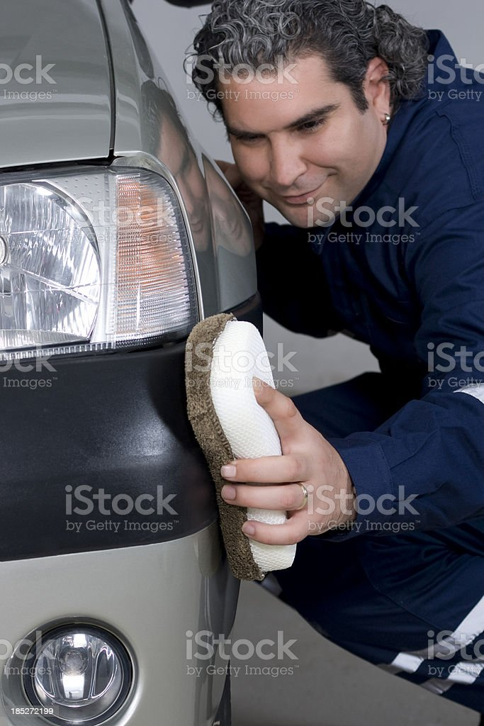 car polishing royalty-free stock photo