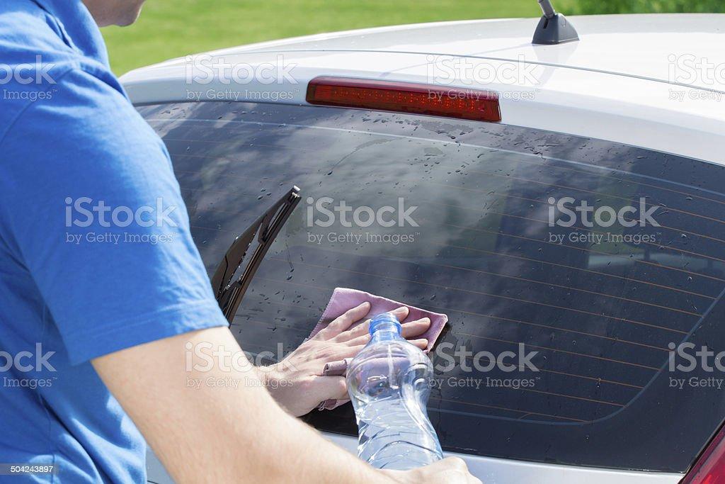 Polimento de carro - foto de acervo