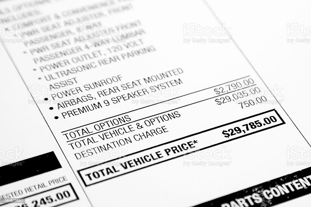 Car Prices royalty-free stock photo