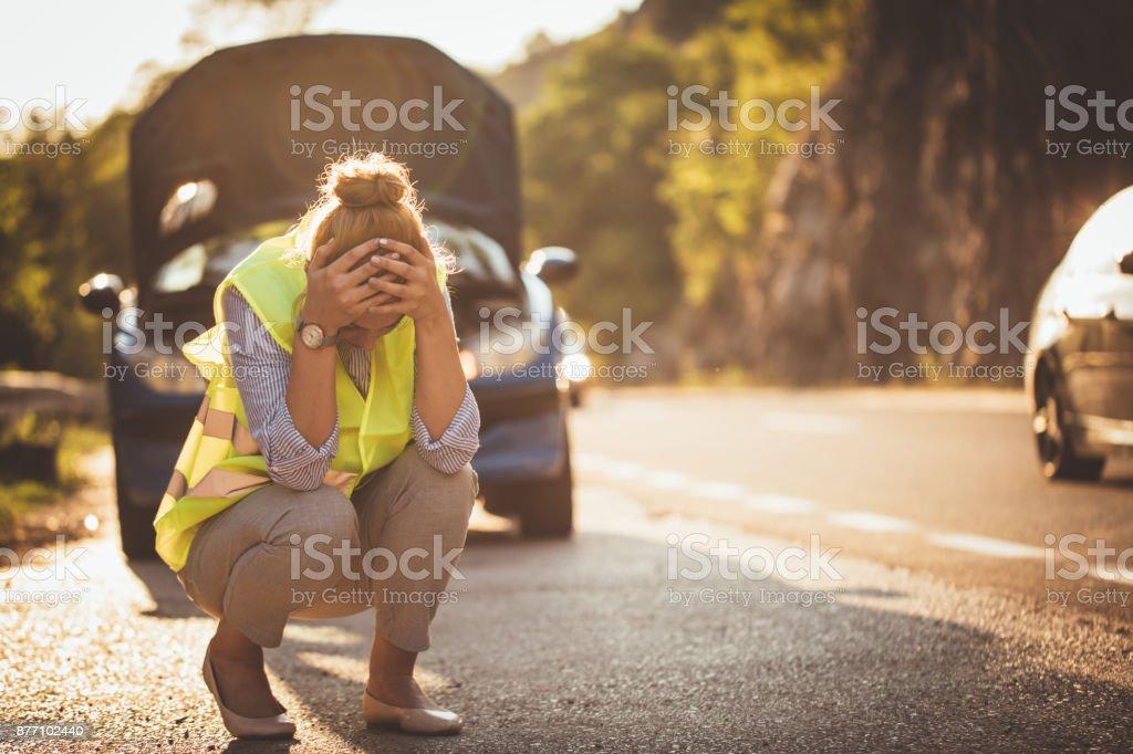 Car problems stock photo