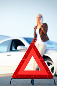 Car problems - red warning triangle
