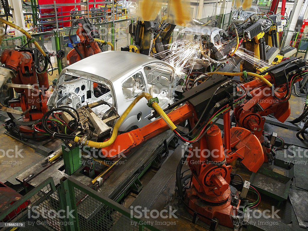 Car production stock photo