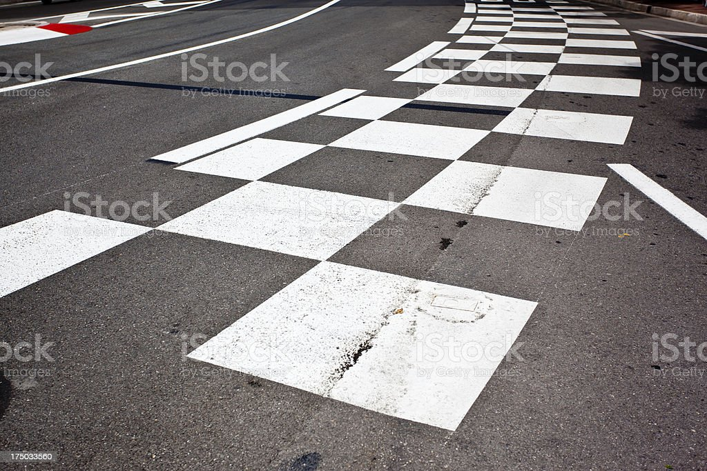 Car race asphalt stock photo