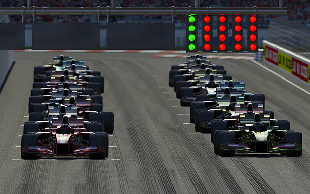 Car Race  starting line stock pictures, royalty-free photos & images