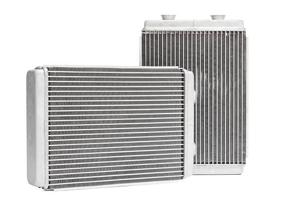 car radiator heater. spare cooling system of internal combustion engine stock photo