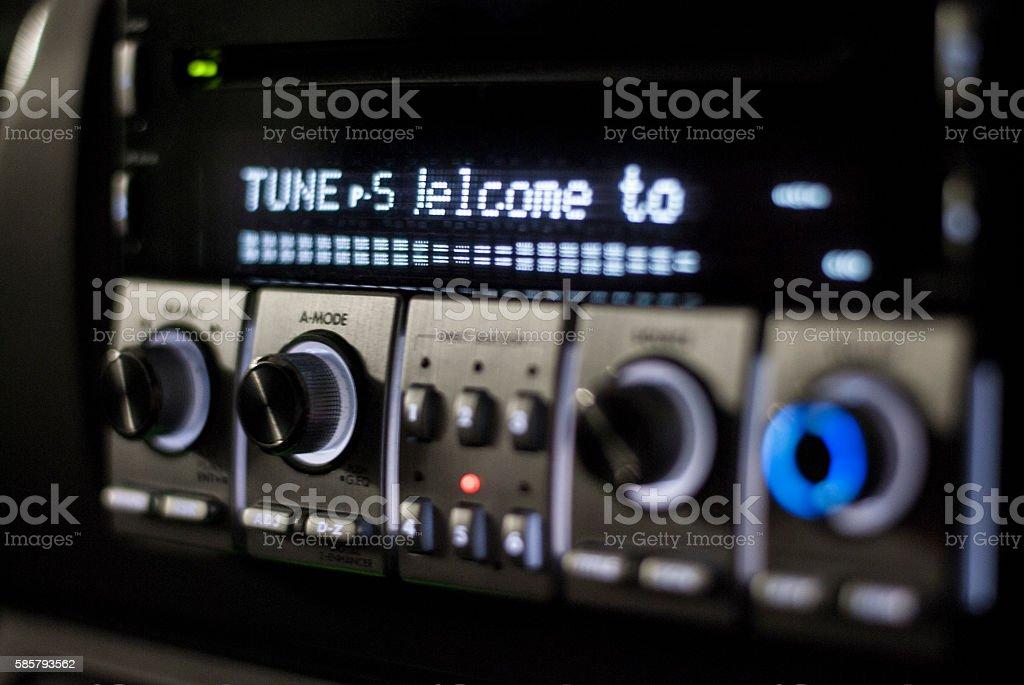 Car radio tuner stock photo