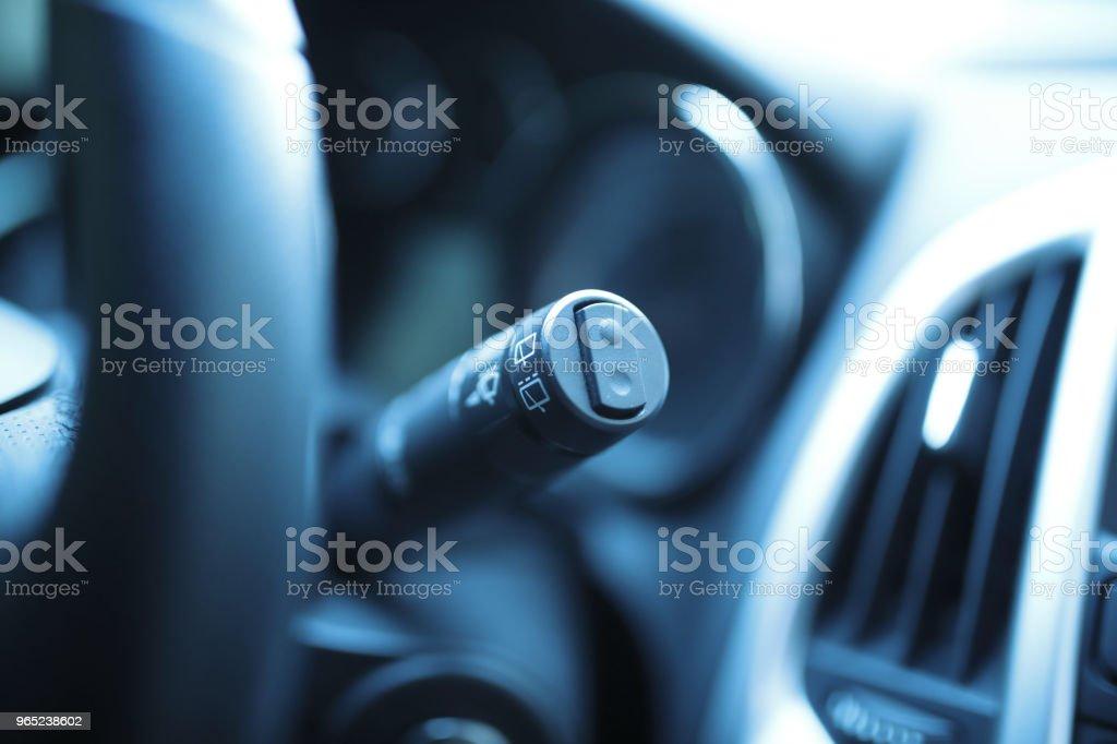 Car Rain windscreen wiper control stick royalty-free stock photo