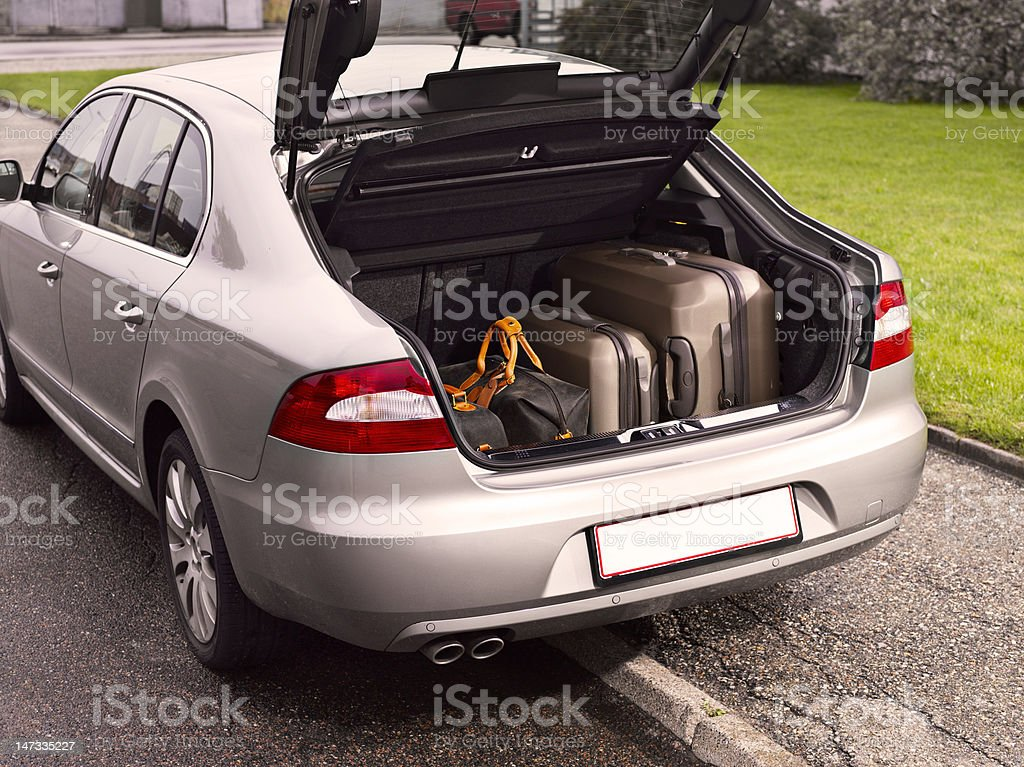 Car ready to departure royalty-free stock photo