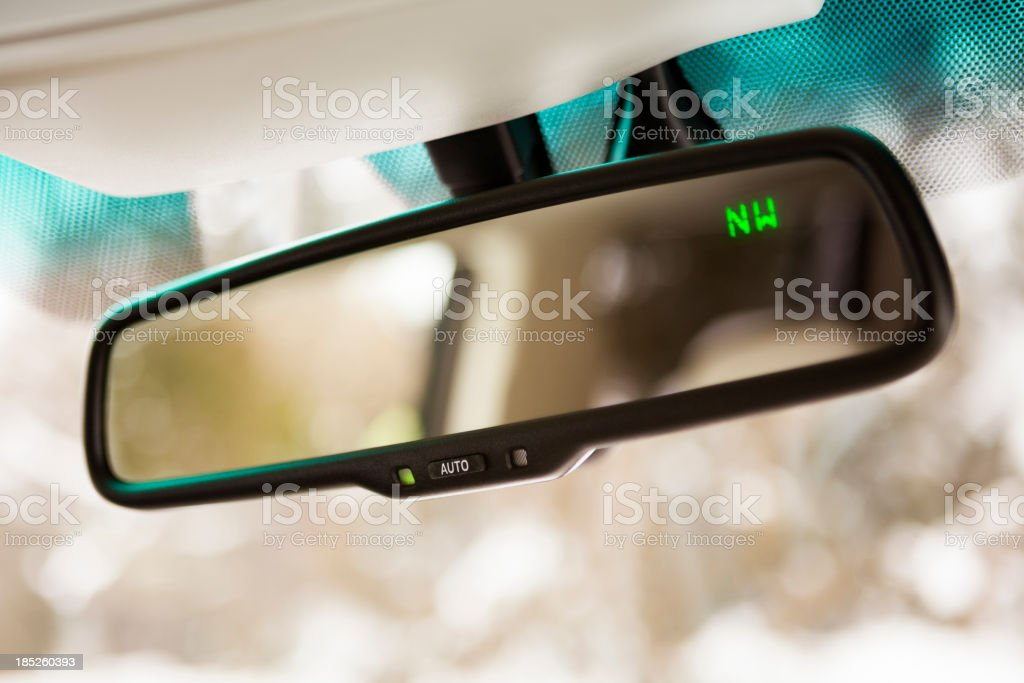 Car rear view mirror royalty-free stock photo