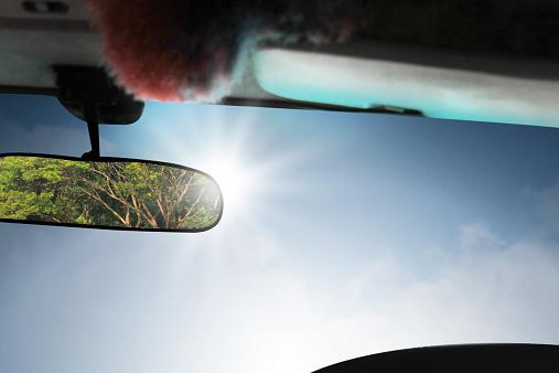 Car rear view mirror