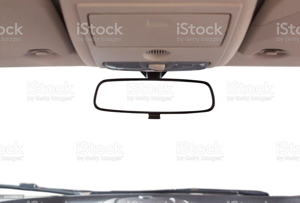 Espelho de vista traseira de carro. - foto de acervo