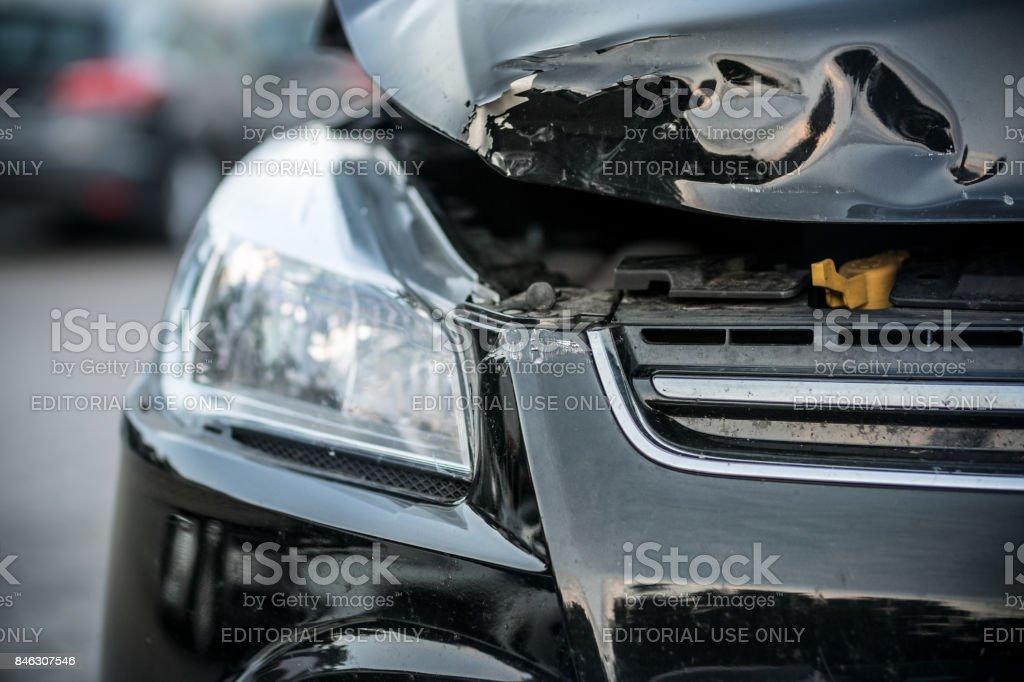 Auto-Auffahrunfall – Foto