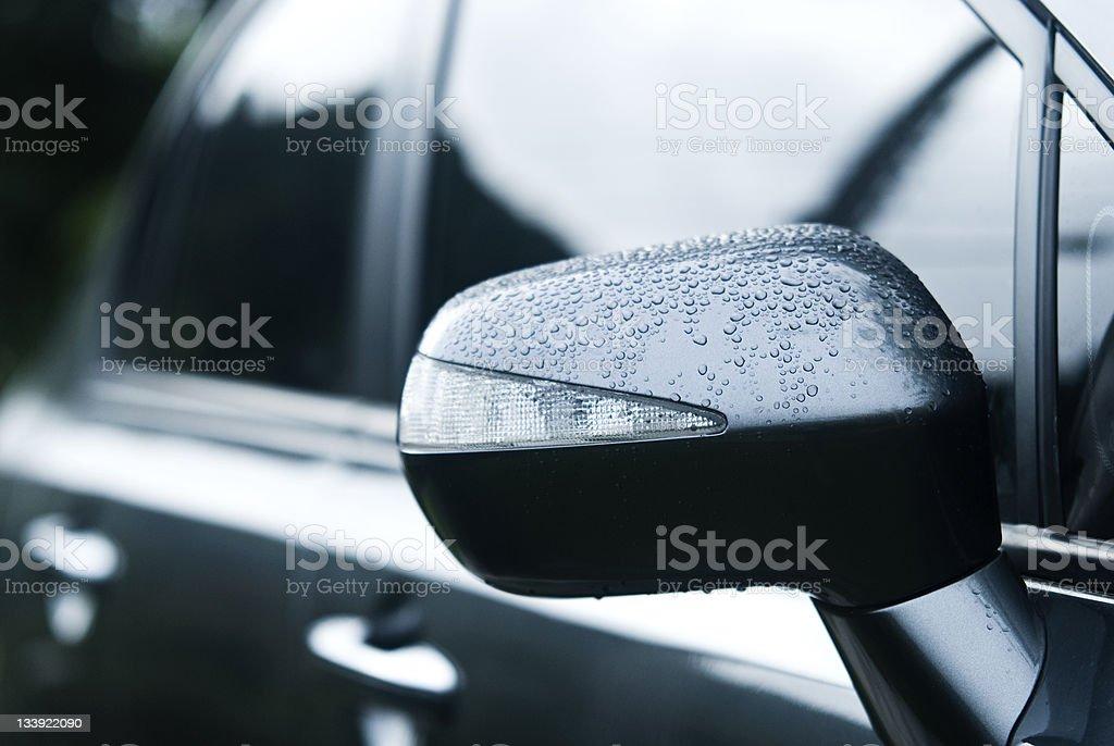 Car rear-view Mirror stock photo
