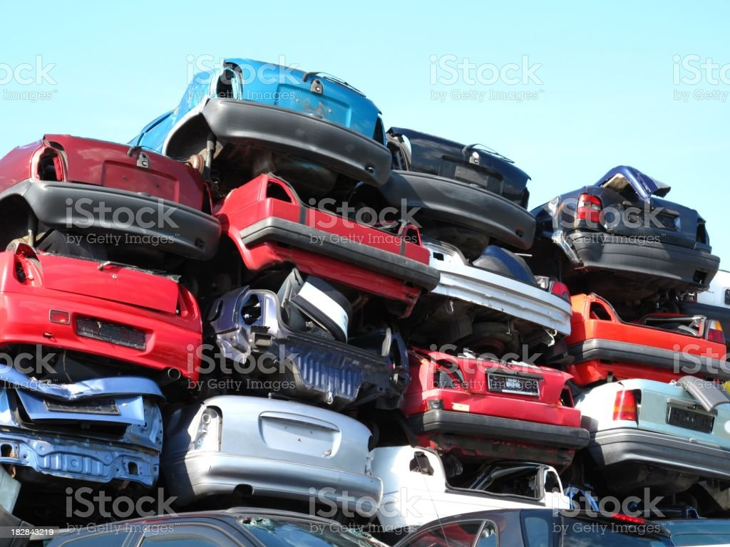Car recycling stock photo