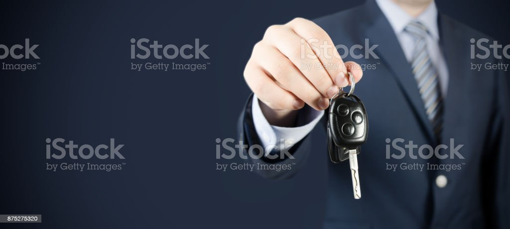 Car rent or sale agent stock photo