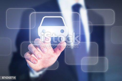 istock car rental online concept 874243714