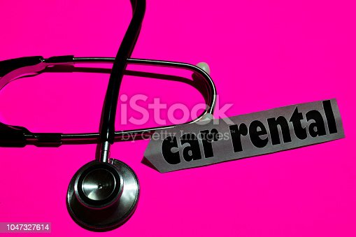 936987338 istock photo Car Rental plan on the paper with medicare Concept 1047327614