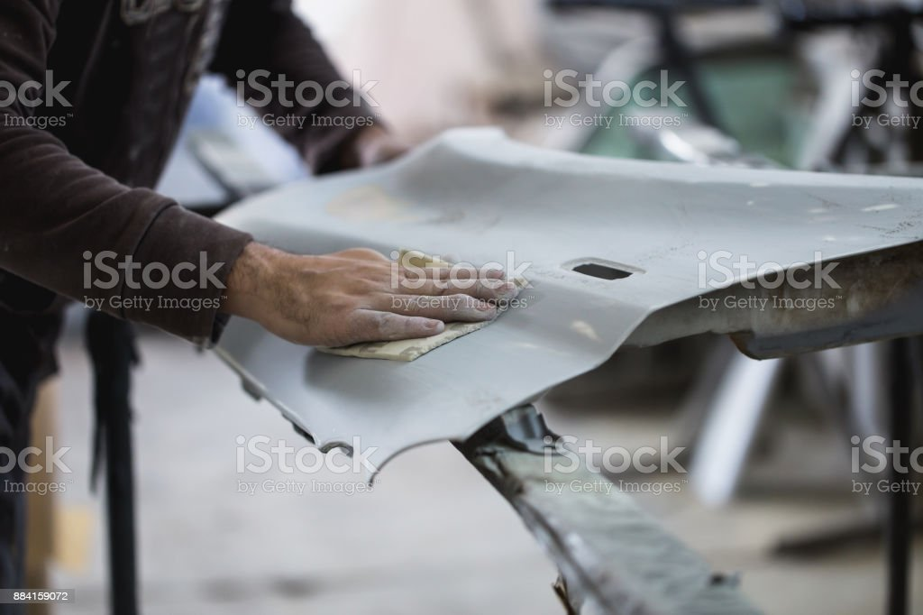 Car repair jobs stock photo