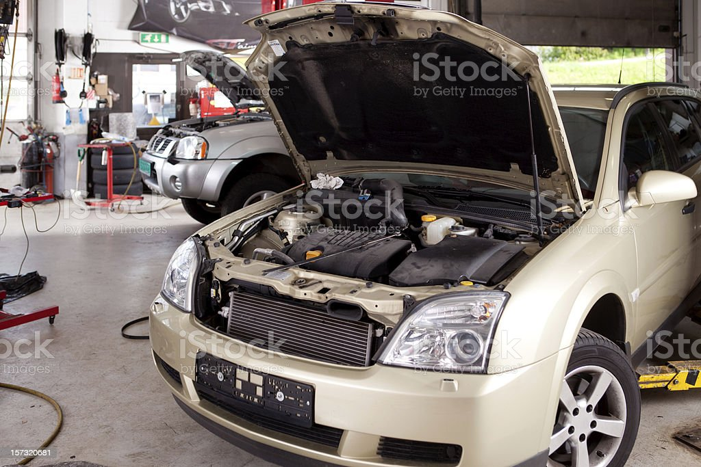 Car Repair Shop stock photo