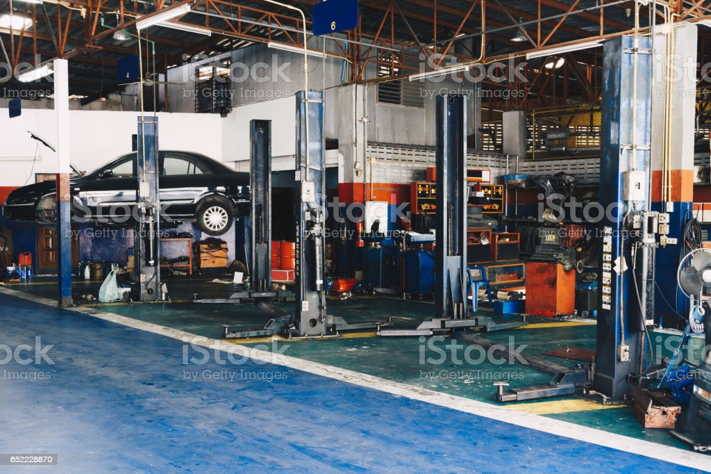 car repair station stock photo