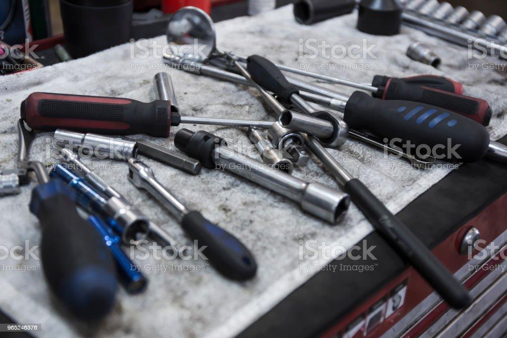 car repair tools royalty-free stock photo