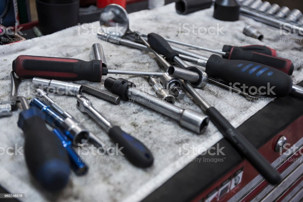 car repair tools stock photo
