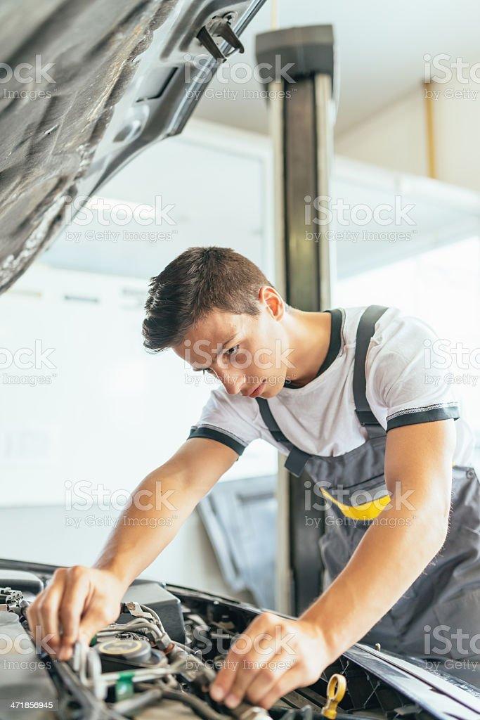 Car Repair,Auto Mechanic at Work royalty-free stock photo