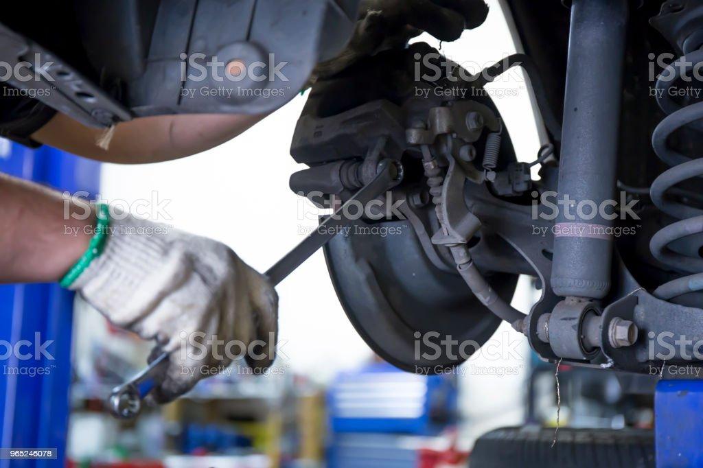 Car repairing process royalty-free stock photo