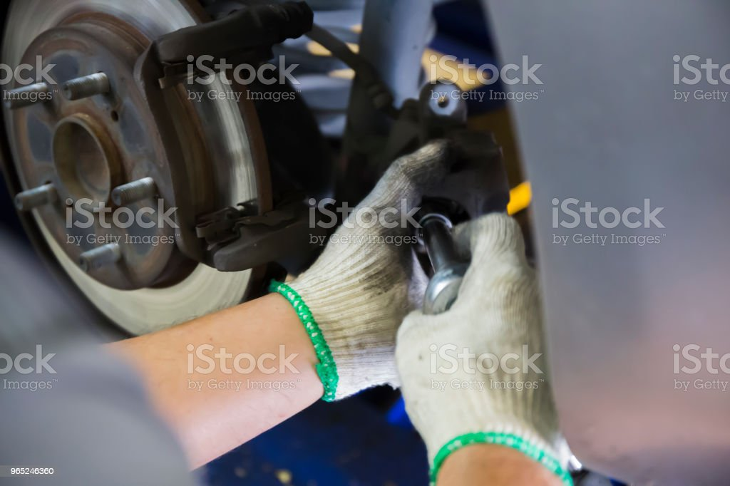 Car repairing process zbiór zdjęć royalty-free