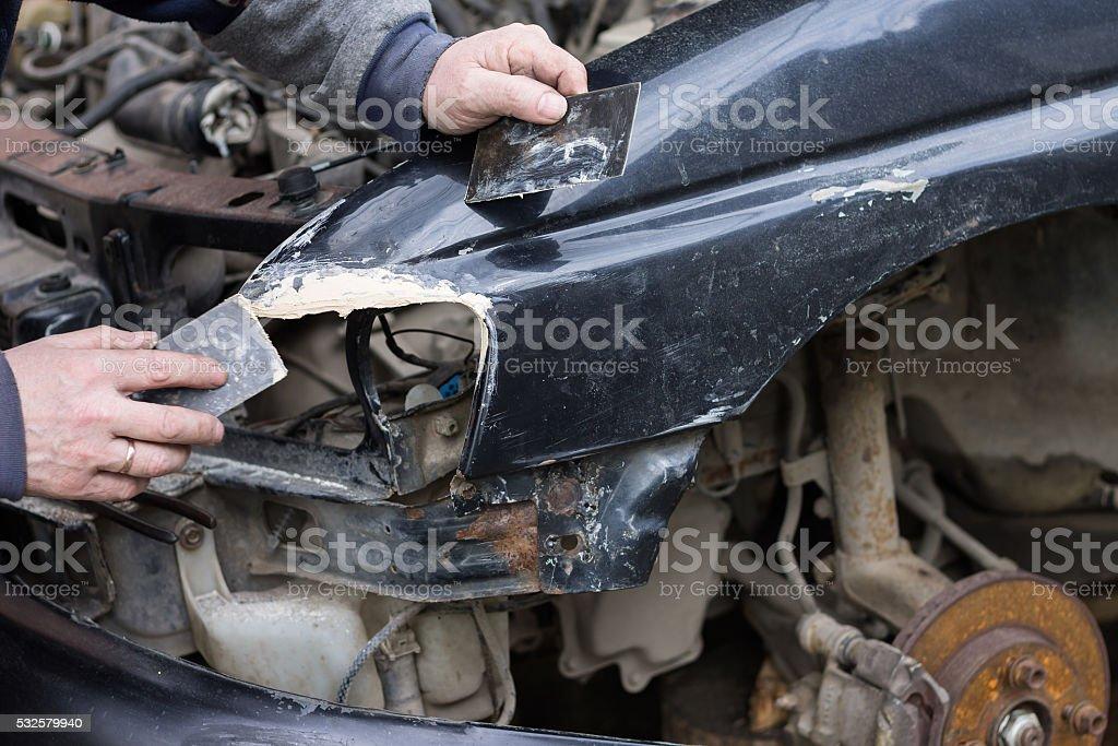 Auto reparatur service. – Foto
