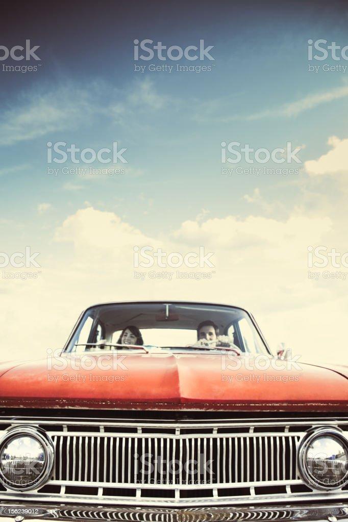 Car Ride Retro stock photo