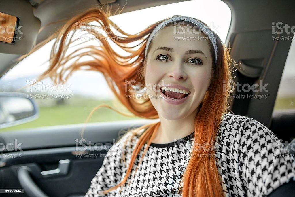 car riding royalty-free stock photo