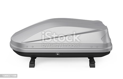 istock Car Roof Rack Isolated 1069021596