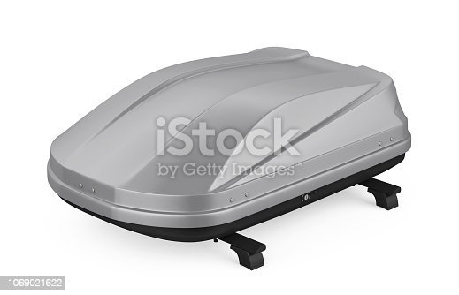 istock Car Roof Rack Isolated 1069021622