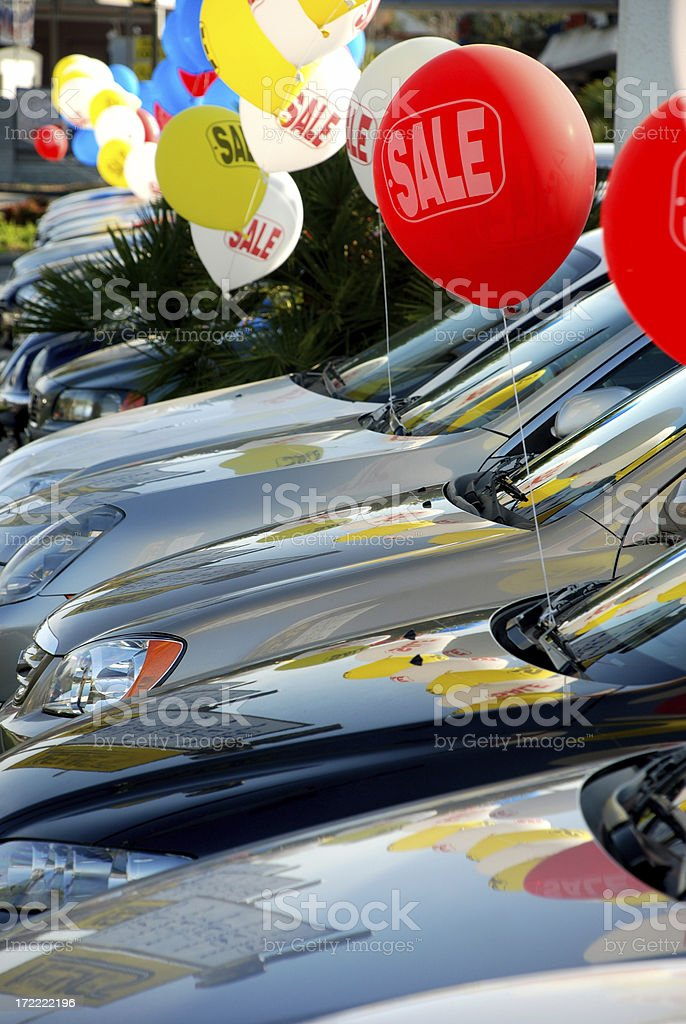 Car sale stock photo