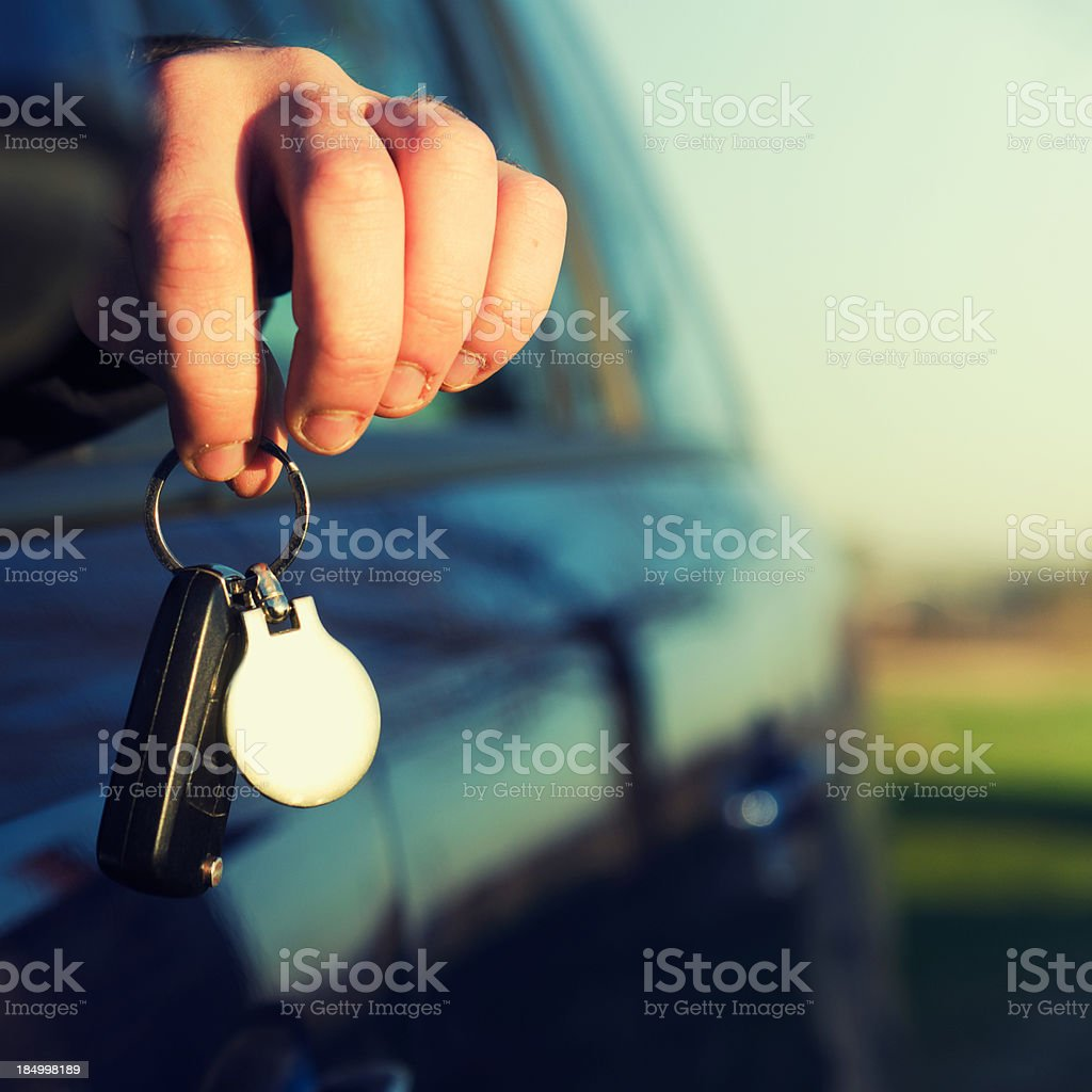 Car sale with key royalty-free stock photo
