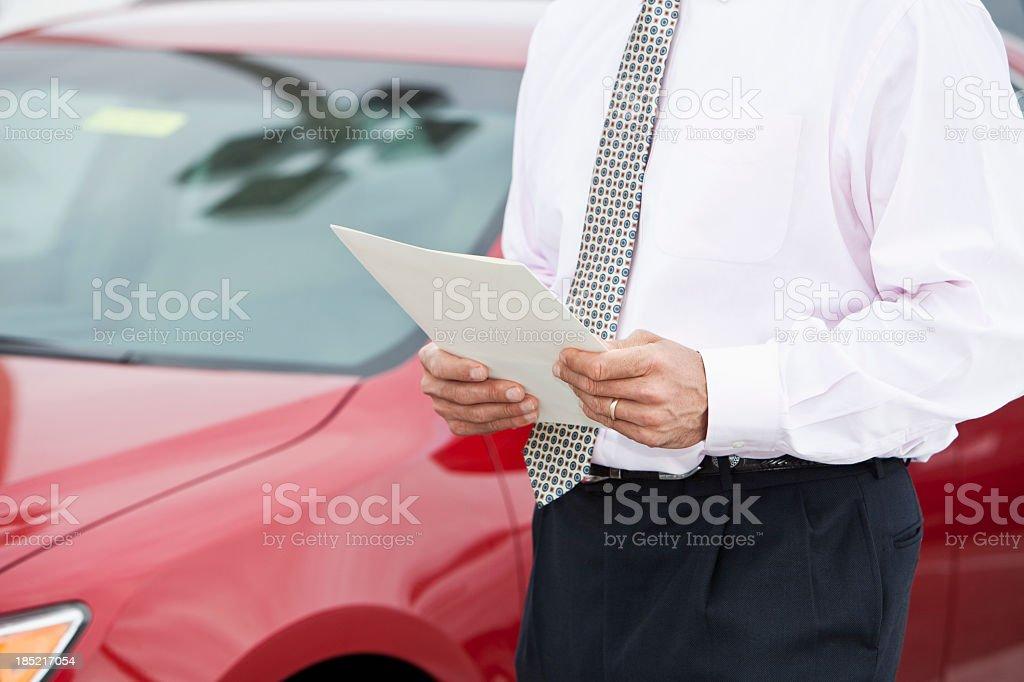 Car salesman royalty-free stock photo