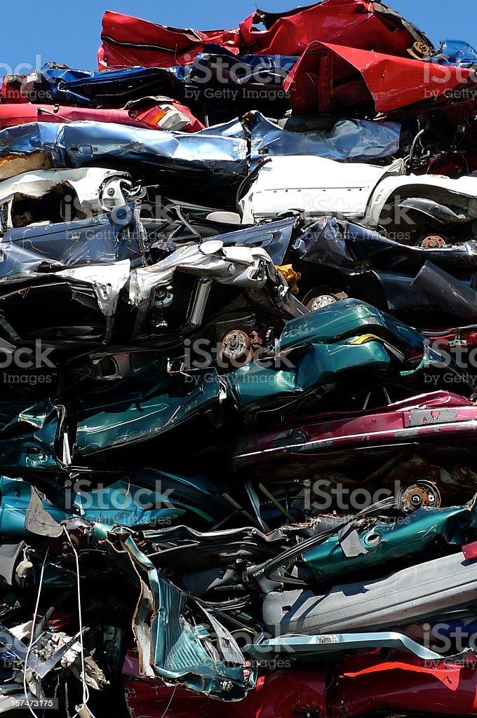 car scrap metal - Schrottplatz royalty-free stock photo